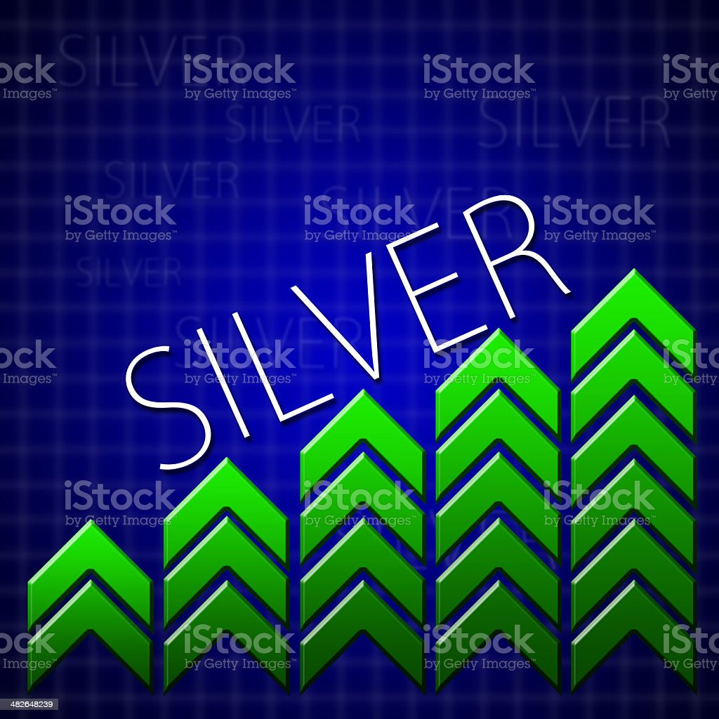 Graphic design trading related illustrating commodity growth stock photo