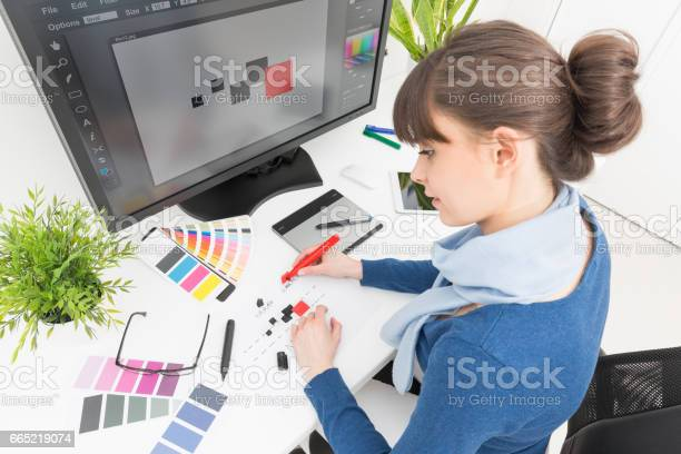 Graphic designer at work color samples note to inspector i am the of picture id665219074?b=1&k=6&m=665219074&s=612x612&h=0jkbcf6l04qb32oh2d potdgzuzdwpelh03ykrtcona=
