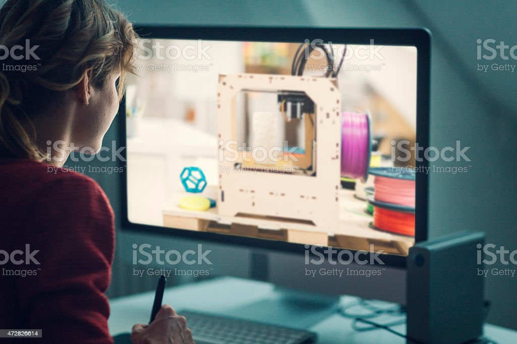 Graphic Designer At Work. stock photo