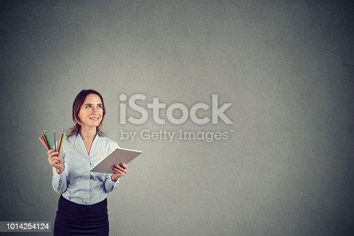 istock Graphic designer contemplating new ideas 1014254124