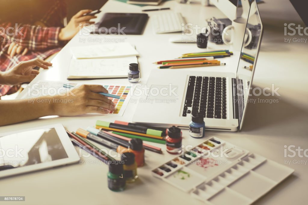 Graphic Designer Creativity Editor Ideas Designer Concept stock photo