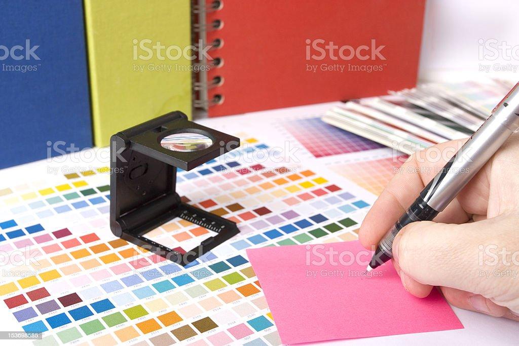 graphic designer desk royalty-free stock photo