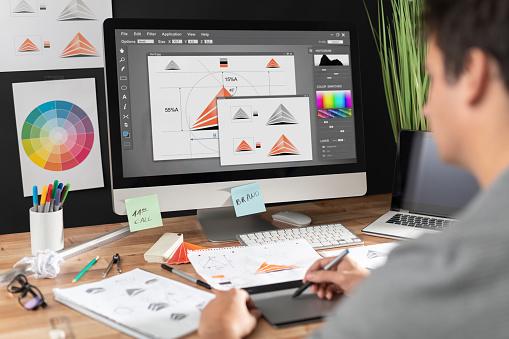 Grafik Tasarımcı Çizim Skeçler Logo Tasarımı Stok Fotoğraflar & Beyin fırtınası'nin Daha Fazla Resimleri