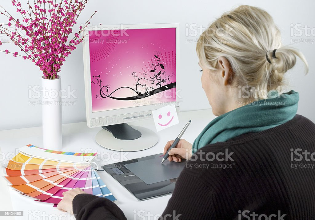 Graphic designer - Royalty-free Adult Stock Photo