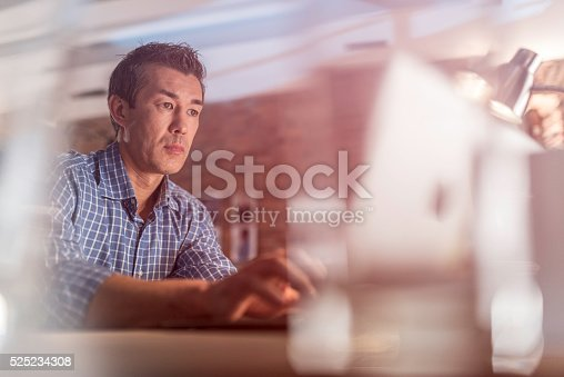istock Graphic designer using a laptop 525234308