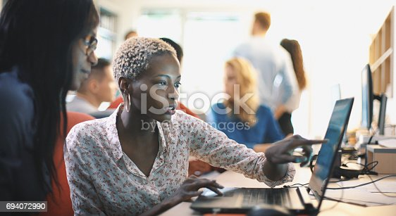 istock Graphic designers at work. 694072990