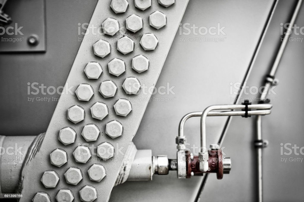 Graphic detail of an oil refinery stock photo