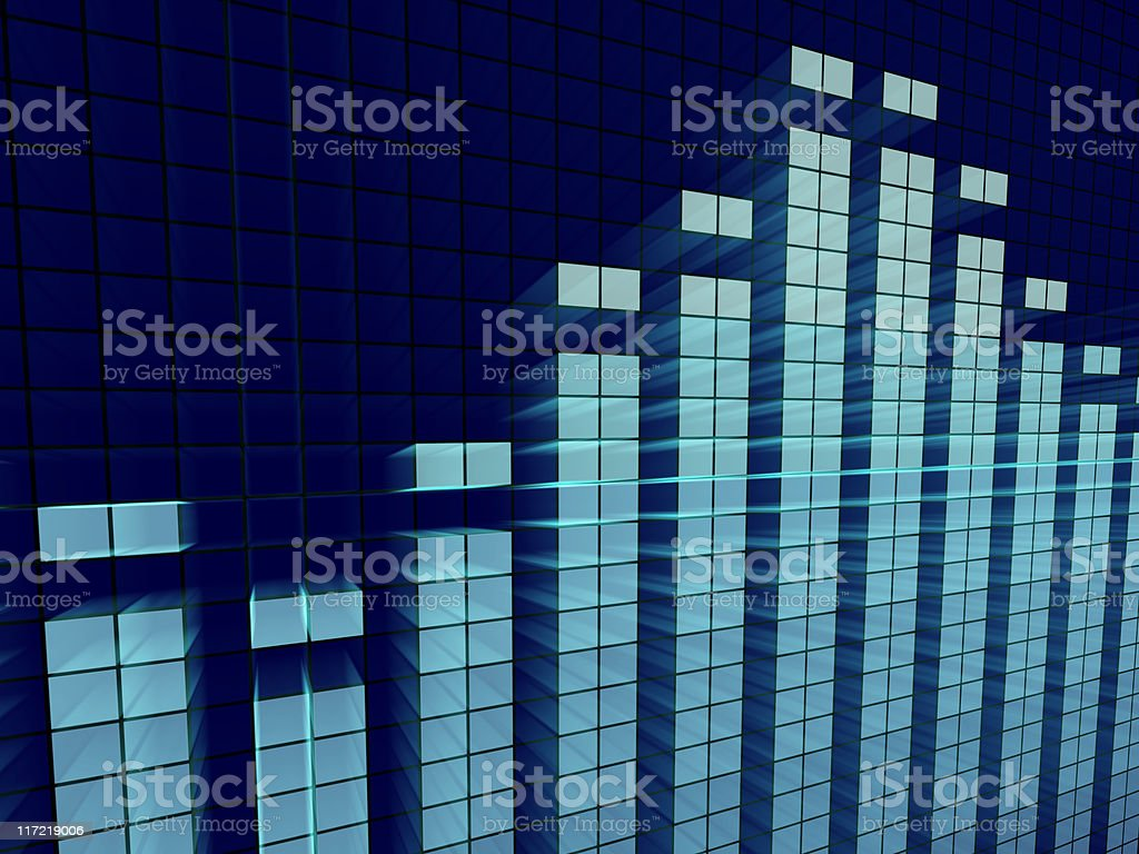Graphic Equalizer Abstract stock photo