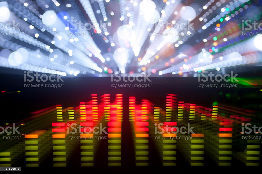 Graphic equalizer music technology concept background stock photo