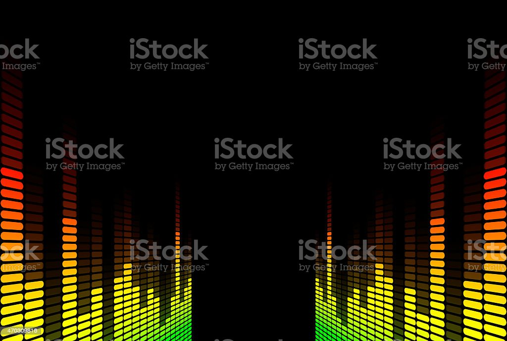 graphic equalizer stock photo