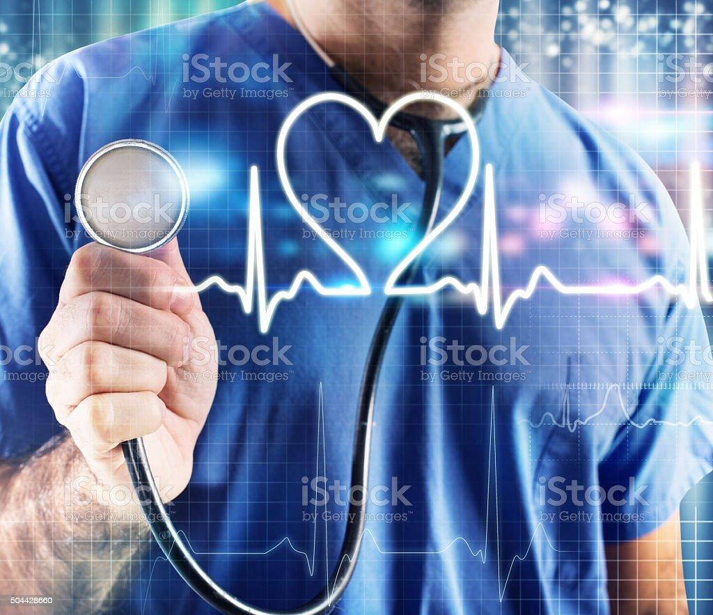 Graphic heartbeat stock photo