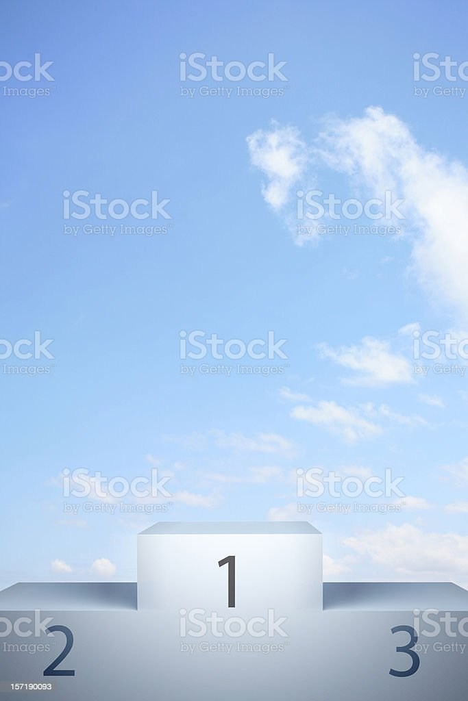 Graphic illustration of a winner's podium as used in sports royalty-free stock photo