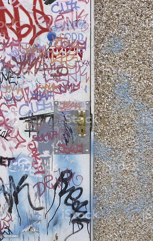 Graffiti spaghetti scribbles riot of color! stock photo