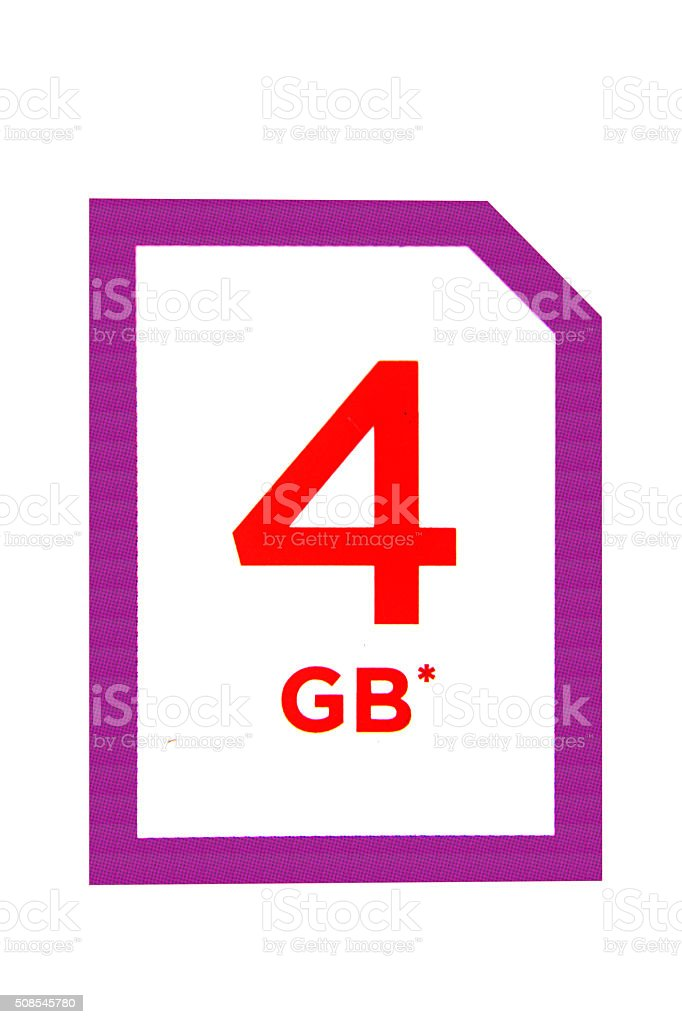 graphic of 4gb sd card stock photo