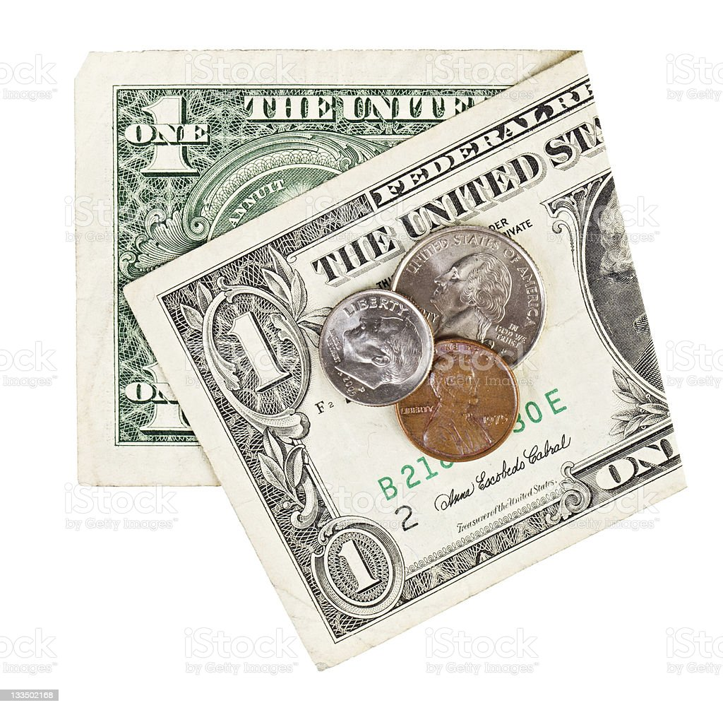 Graphic of American dollars and cents royalty-free stock photo