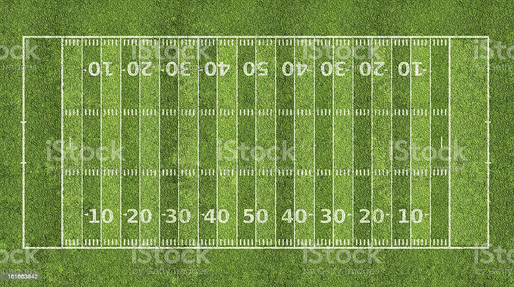 Graphic of an American football field stock photo