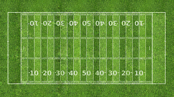 Graphic of an American football field American football field american football field stock pictures, royalty-free photos & images