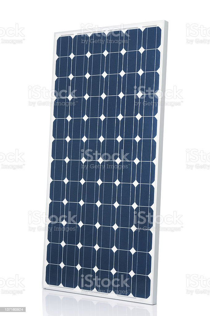 Graphic of solar panel isolated on white background royalty-free stock photo