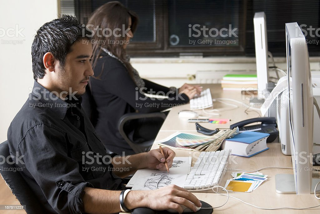 graphic office royalty-free stock photo