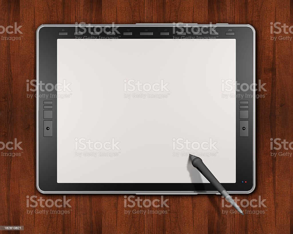 Graphic Tablet royalty-free stock photo