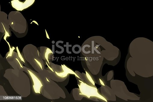 istock Graphic transitions for video editing. Fire, dust and flashes. 1083681528