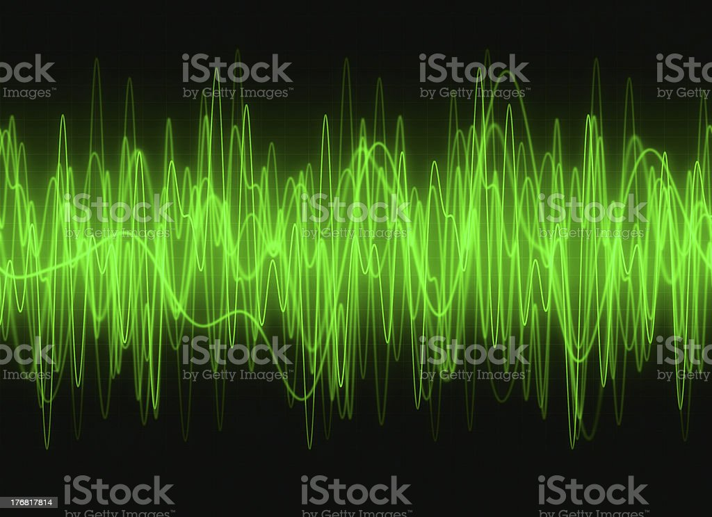 Graphic waves sound stock photo