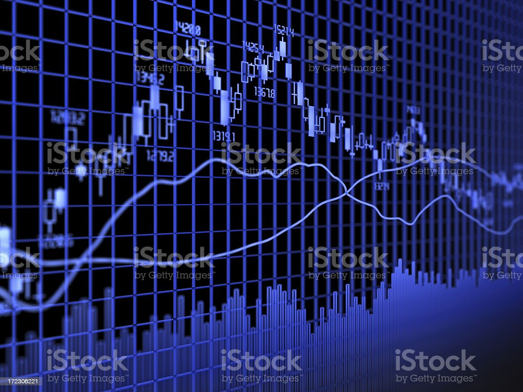 Graphical analysis using several graphing methods stock photo