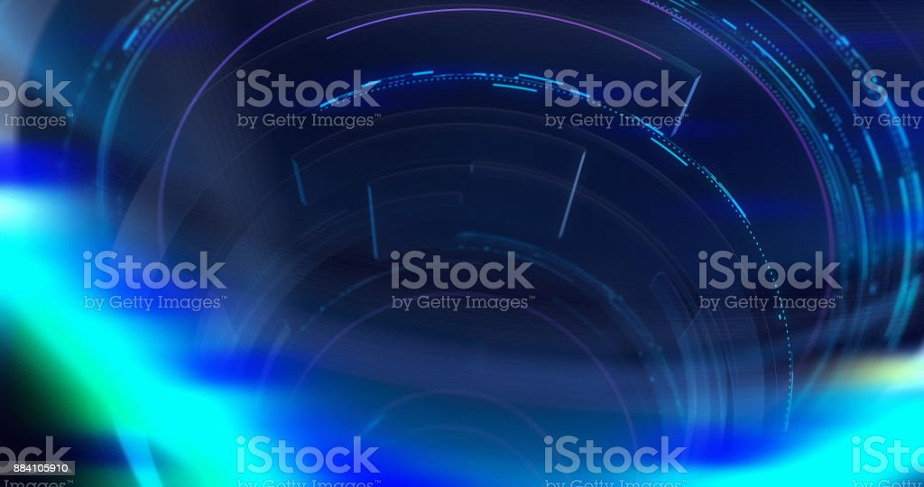 Graphical Modern Digital World News Studio Background. stock photo