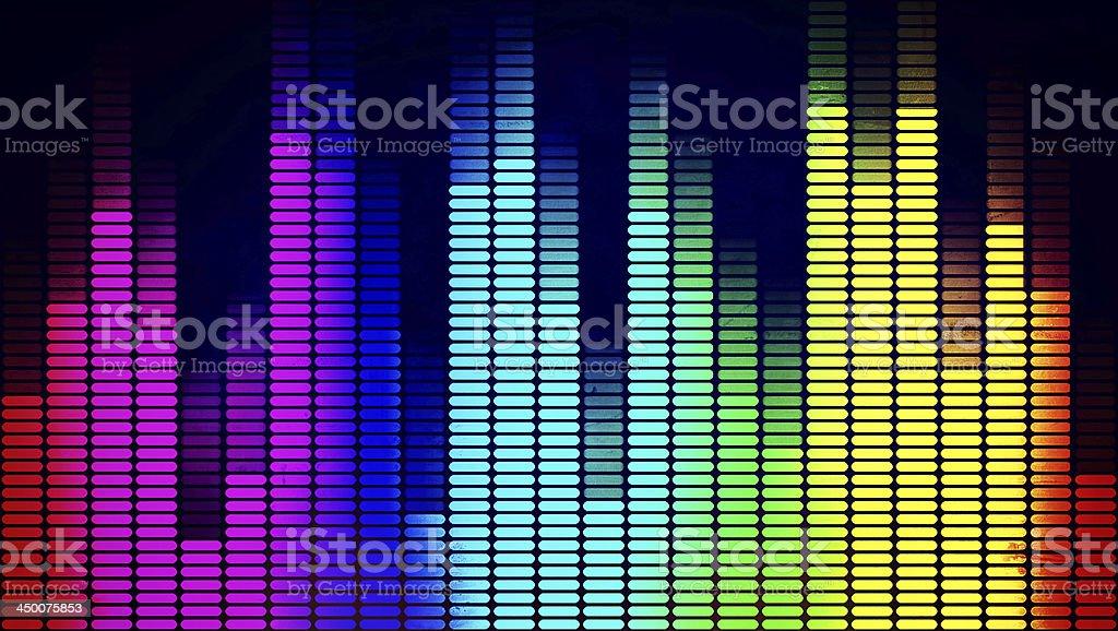 Graphics equalizer stock photo