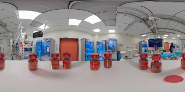 360o 3d gráficos nuevo buttle de medicina abierta con aguja de jeringa - 360 fotografías e imágenes de stock