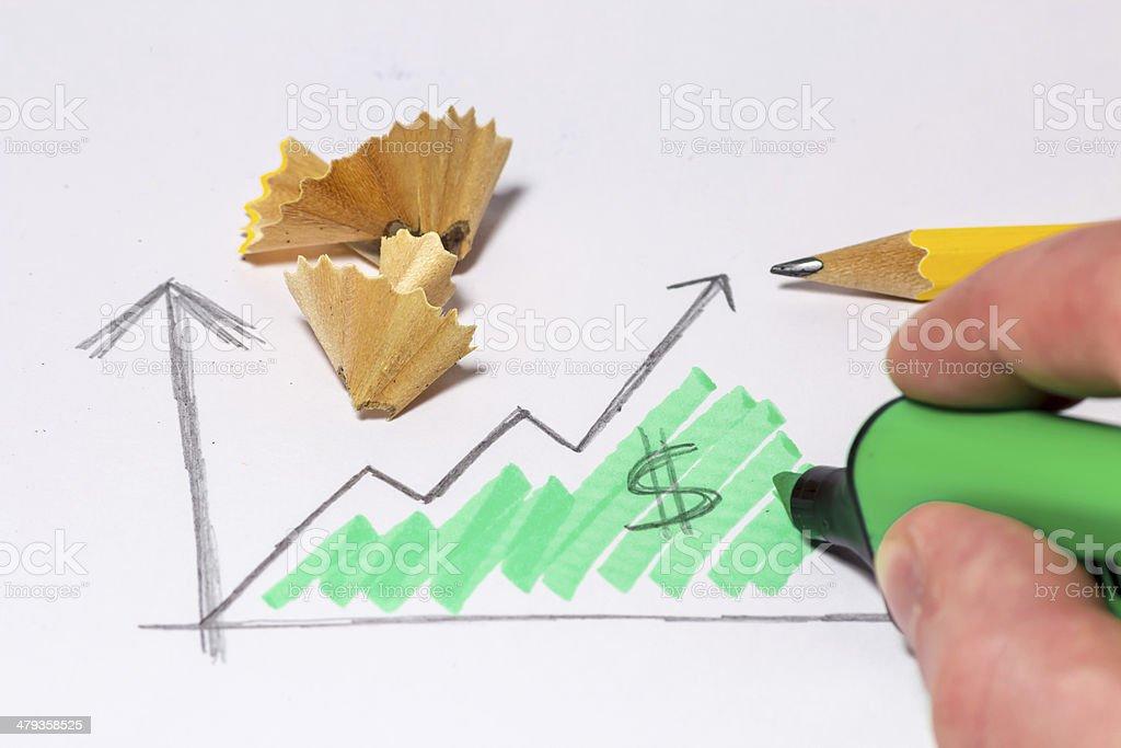 graphics of profit stock photo
