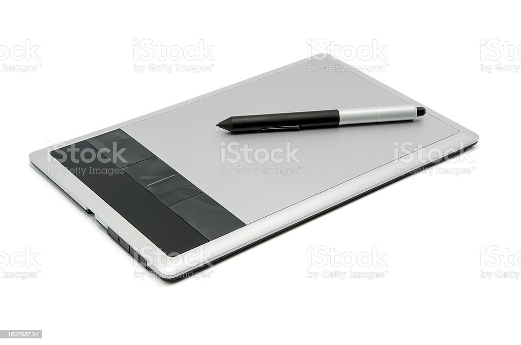 Graphics tablet royalty-free stock photo