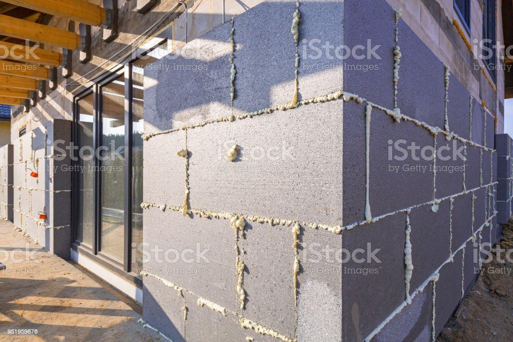 Graphite styrofoam insolation on the new house under construction – zdjęcie