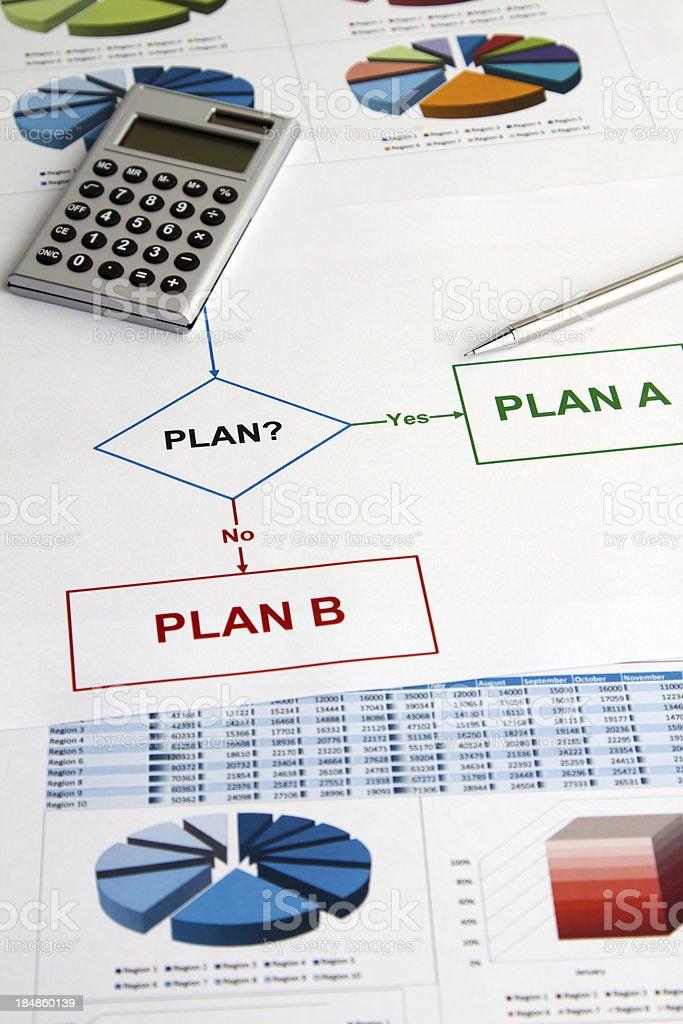 Diagramme und Diagramm Planung – Foto