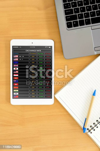 istock Graphs and charts elements smartphone screen 1159426660