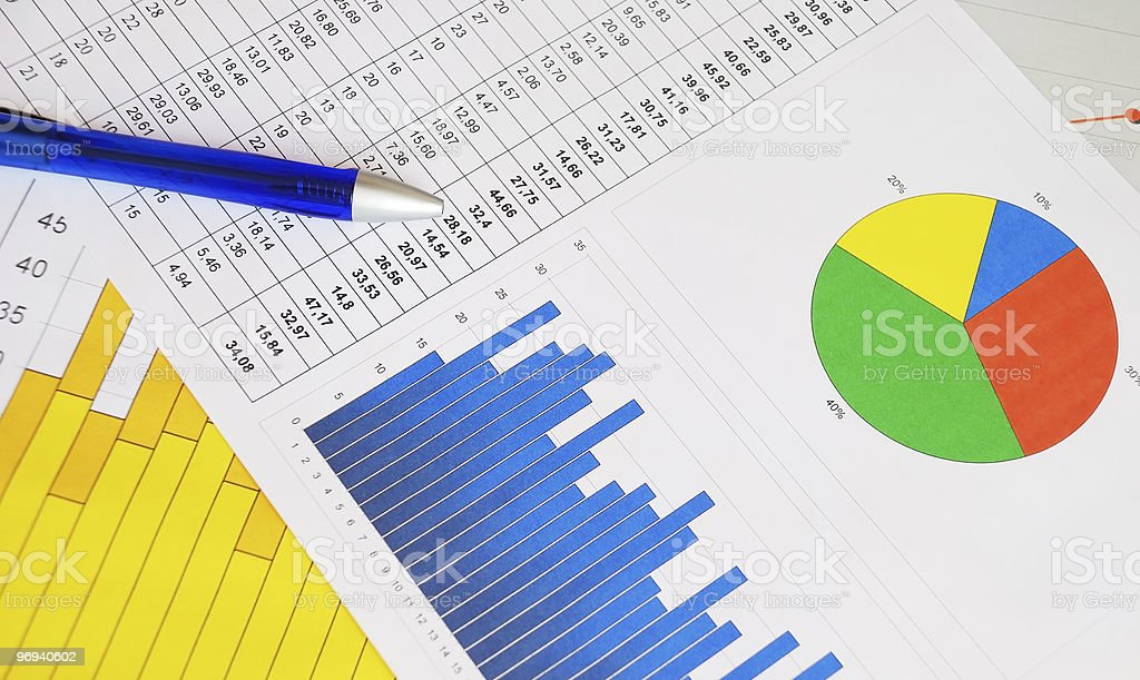 Graphs and charts royalty-free stock photo