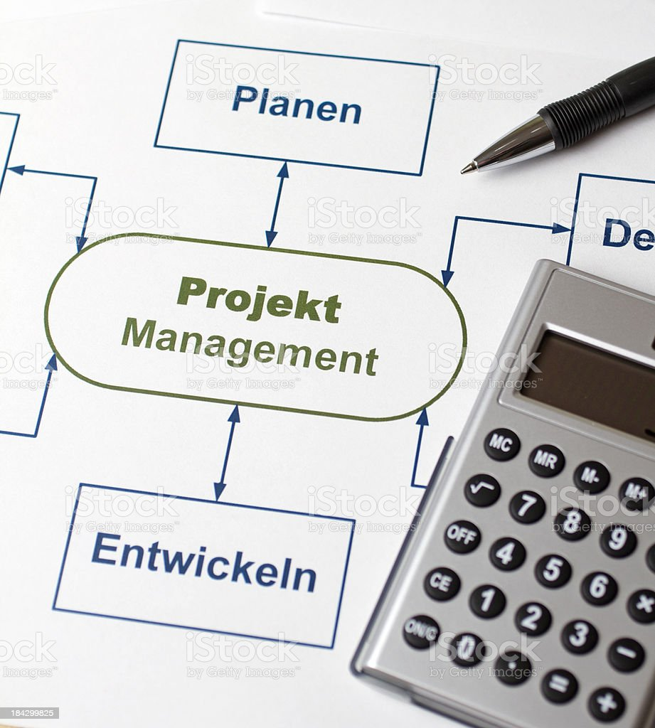 Graphs and charts project management royalty-free stock photo