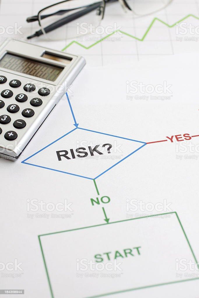 Grafiken und Diagrammen Risiko – Foto