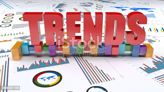 istock Graphs and charts trends 699092158