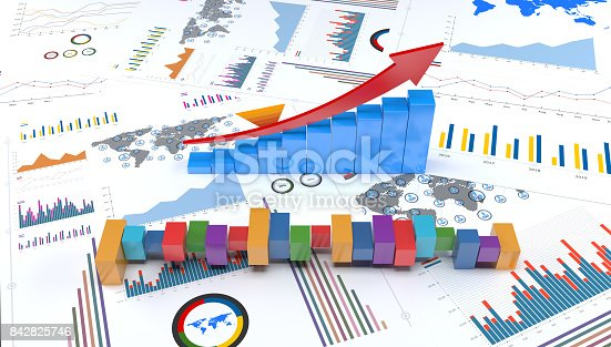 istock Graphs and charts trends 842825746