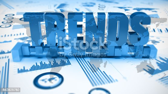 istock Graphs and charts trends 842825782