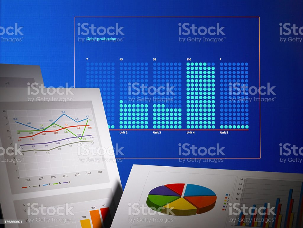 Graphs and tables royalty-free stock photo