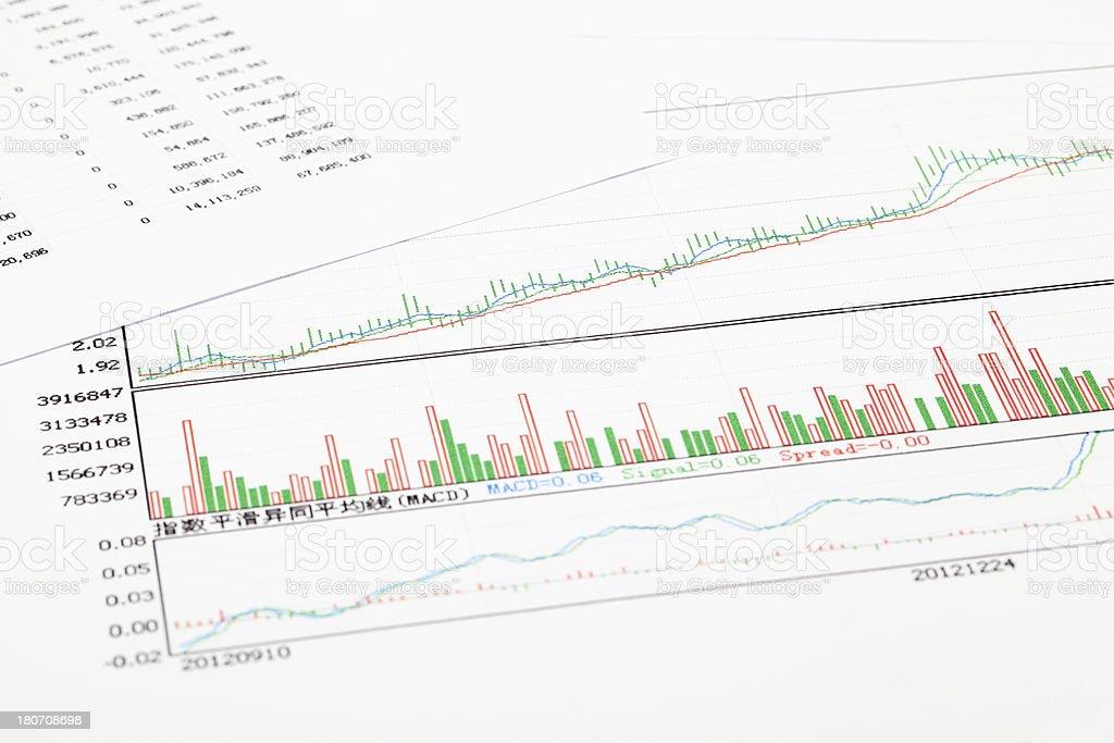 Graphs royalty-free stock photo