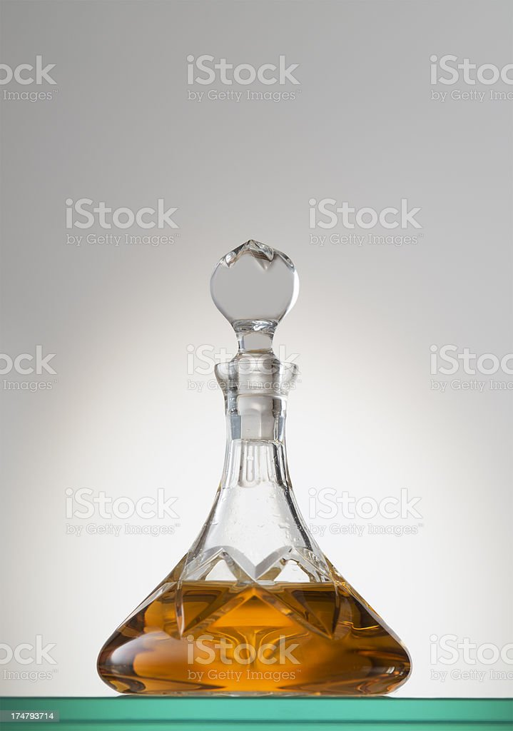 Grappa Riserva, Brandy, Decanter royalty-free stock photo
