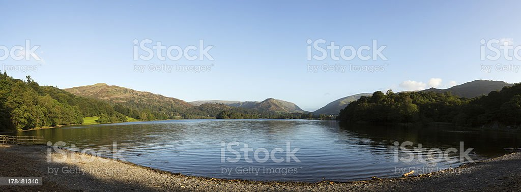 Grasmere at dawn in Lake District stock photo