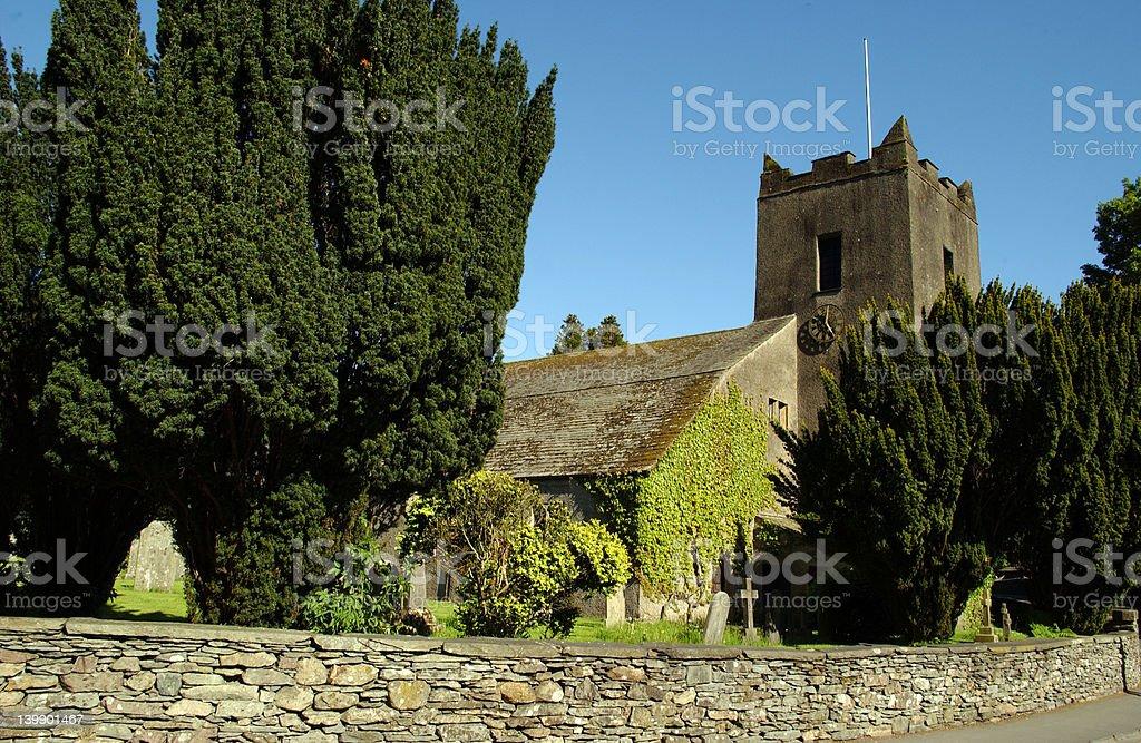 Grasmere Church stock photo