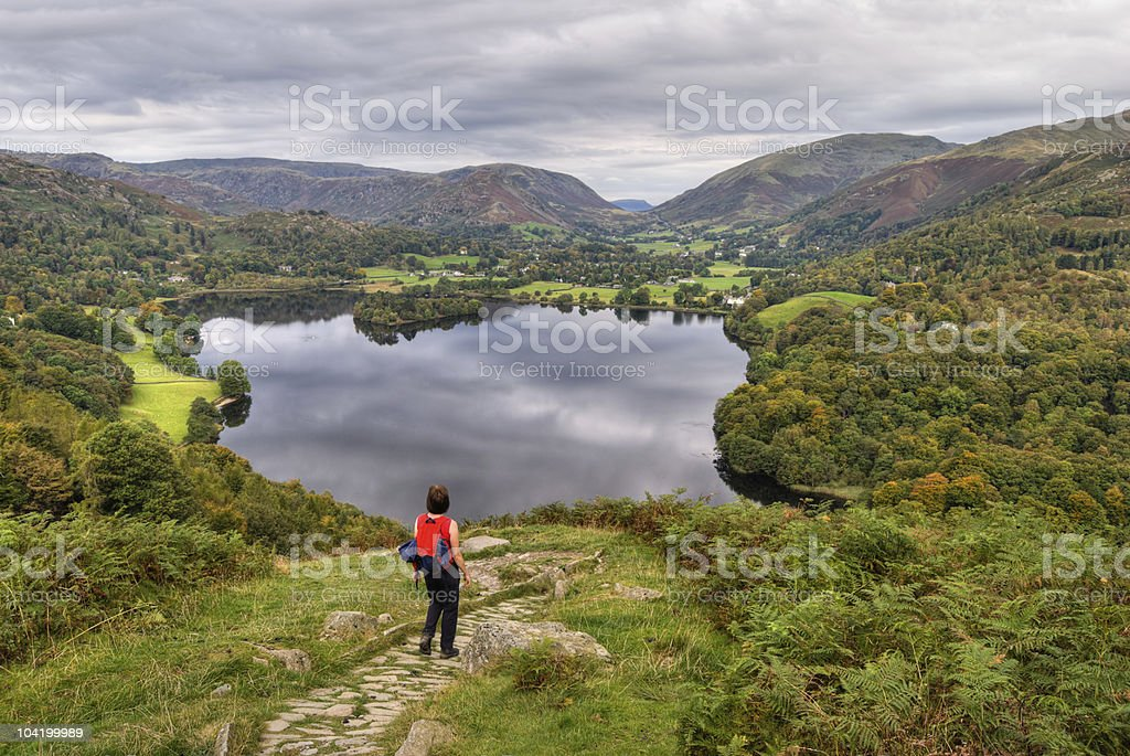 Grasmere in early Autumn stock photo