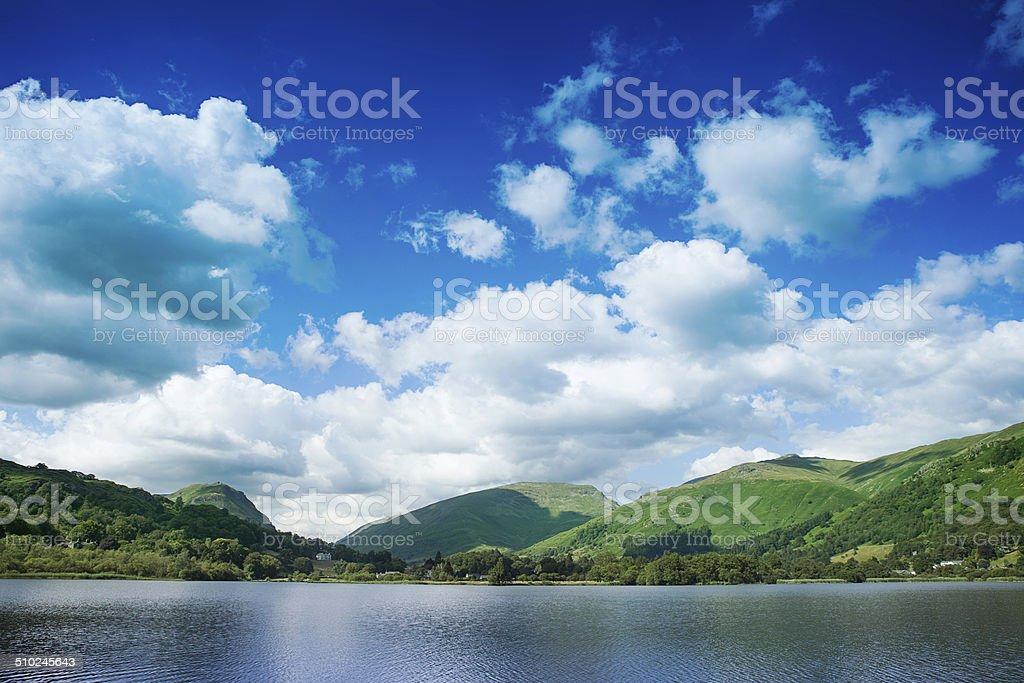 Grasmere in English Lake District. stock photo