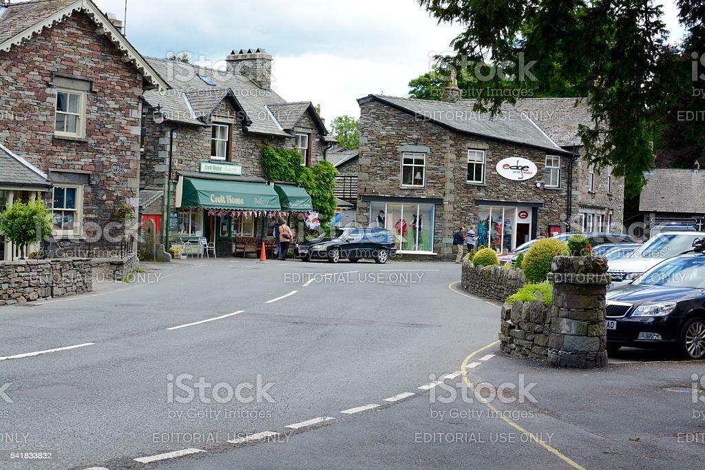 Grasmere Village stock photo