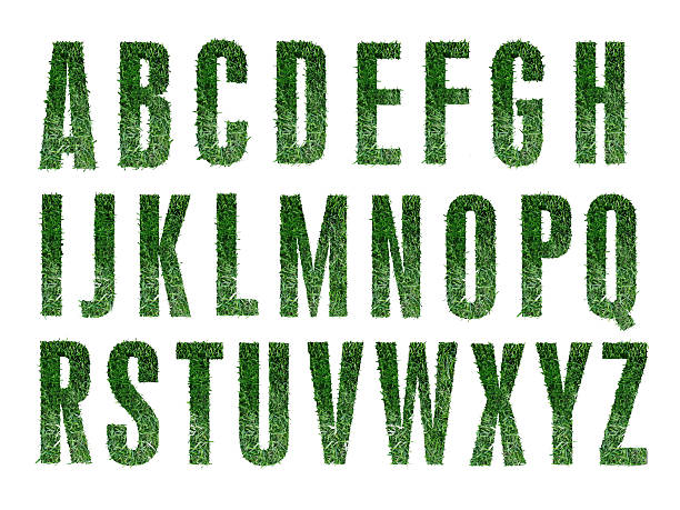 Grass Alphabet stock photo